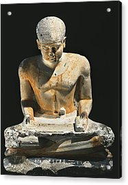 Sitted Scribe. Ca. 2575 Bc. Painted Acrylic Print