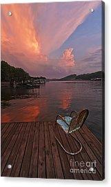 Sittin' On The Dock Acrylic Print by Dennis Hedberg