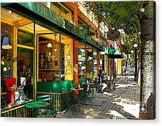Sitting At The Bakery Acrylic Print