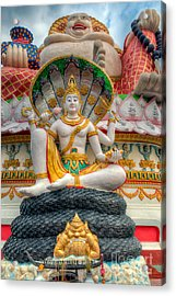 Sitting Buddhas Acrylic Print