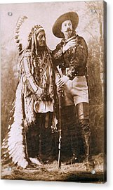Sitting Bull And Buffalo Bill Acrylic Print by Unknown