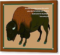 Sitting Bull Buffalo Acrylic Print by Digital Creation