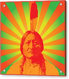 Sitting Bull Acrylic Print by Gary Grayson