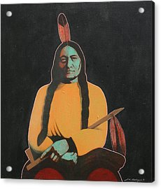 Sitting Bull Acrylic Print by J W Kelly