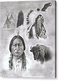 Sitting Bull Acrylic Print by Jessica Hallberg