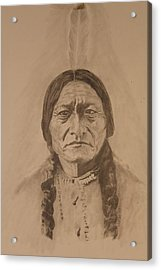 Sitting Bull Acrylic Print by Michael McGrath