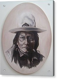 Acrylic Print featuring the painting Sitting Bull by Michael  TMAD Finney