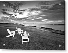 Sitting By The Green Acrylic Print