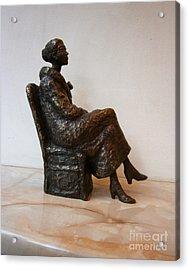 Sitting Girl Acrylic Print by Nikola Litchkov