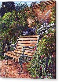 Sitting In The Garden Acrylic Print by David Lloyd Glover
