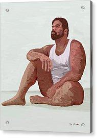 Sitting Man Acrylic Print by Tim Stringer