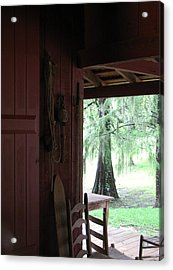 Acrylic Print featuring the photograph Sitting On The Back Porch by John Glass