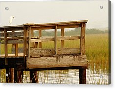 Sitting On The Dock Acrylic Print