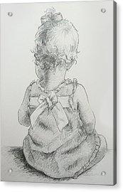 Sitting Pretty Acrylic Print by Kelley Smith