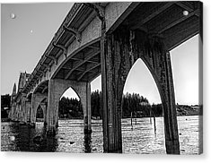 Siuslaw River Bridge Portrait Acrylic Print
