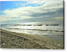 Siver Sea Acrylic Print by F Salem