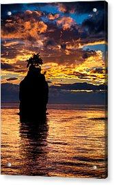 Siwash Rock Silhouette Acrylic Print