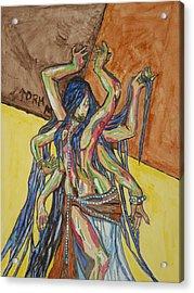 Six Armed Goddess Acrylic Print by Stormm Bradshaw