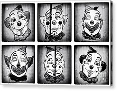 Six Clowns Acrylic Print by John Rizzuto