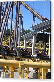 Six Flags America - Batwing Roller Coaster - 12125 Acrylic Print