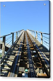Six Flags America - Roar Roller Coaster - 12121 Acrylic Print