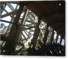 Six Flags America - Roar Roller Coaster - 12126 Acrylic Print by DC Photographer