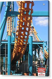 Six Flags America - Two-face Roller Coaster - 12123 Acrylic Print