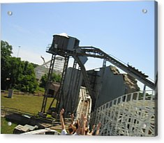 Six Flags America - Wild One Roller Coaster - 12128 Acrylic Print by DC Photographer