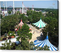 Six Flags Great Adventure - 121210 Acrylic Print by DC Photographer