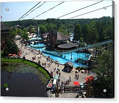 Six Flags Great Adventure - 121213 Acrylic Print by DC Photographer