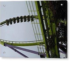 Six Flags Great Adventure - Medusa Roller Coaster - 12122 Acrylic Print by DC Photographer