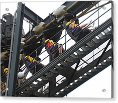 Six Flags Great Adventure - Medusa Roller Coaster - 12123 Acrylic Print