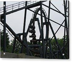 Six Flags Great Adventure - Medusa Roller Coaster - 12124 Acrylic Print by DC Photographer