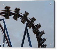 Six Flags Great Adventure - Medusa Roller Coaster - 12126 Acrylic Print