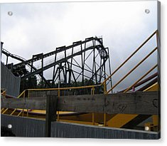 Six Flags Great Adventure - Nitro Roller Coaster - 12122 Acrylic Print by DC Photographer