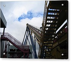 Six Flags Great Adventure - Nitro Roller Coaster - 12123 Acrylic Print by DC Photographer