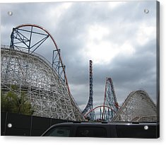 Six Flags Magic Mountain - 121211 Acrylic Print by DC Photographer