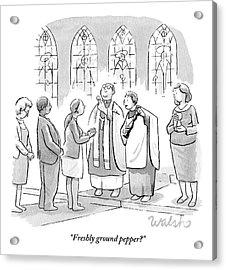 Six People In Church Acrylic Print