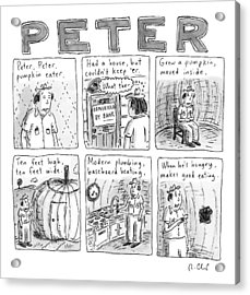 Six Rhyming Panels About A Man Who Moves Acrylic Print