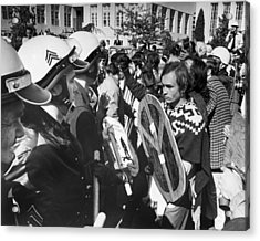 Sixties Protest Face Off Acrylic Print