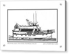 Sixtyfive Foot Defever Trawler Yacht Acrylic Print by Jack Pumphrey