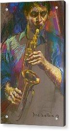 Sizzling Sax Acrylic Print