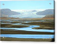 Acrylic Print featuring the photograph Skaftafell Glacier by Paula Guttilla