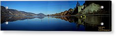 Acrylic Print featuring the photograph Skaha Lake Kayaking Panorama by Guy Hoffman