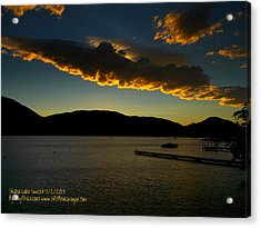 Acrylic Print featuring the photograph Skaha Lake Sunset July02/2013 by Guy Hoffman