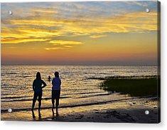 Skaket Beach Sunset 4 Acrylic Print by Allen Beatty