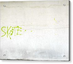Skate Acrylic Print by Valentin Emmanouilidis