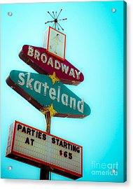 Skateland Acrylic Print by Sonja Quintero