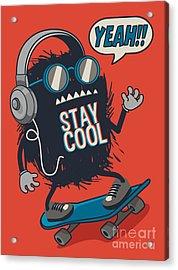 Skater Monster Acrylic Print