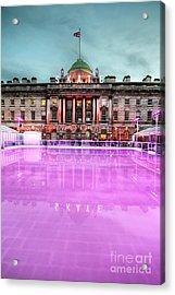 Skating At Somerset House Acrylic Print by Jasna Buncic
